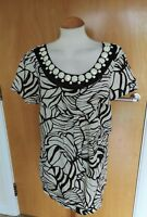 Ladies DASH Tunic tops Size 18 Beaded neckline smart casual Silk Blend