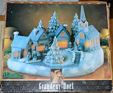 Grandeur Village Noel Musical and Illuminated 13 Piece Porcelain Set in Box