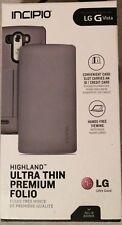 Incipio Highland Ultra Thin Premium Folio case for LG G Vista- Grey