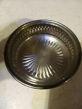 Glass And Silver Plate Bowl
