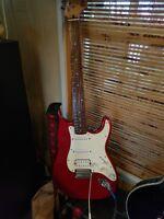 Restored Vintage Fender Squire Guitar