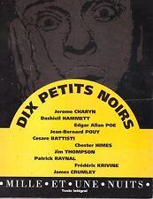 DIX PETITS NOIRS COFFRET 10 ROMANS HAMMETT POE POUY BATTISTI THOMPSON ...