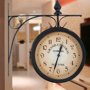 VIKMARI 14 Inch Silent Non-Ticking Wooden Round Wall Clock Big Arabic Numerals Wall Clocks Sunset by The Sea Beach Pattern Clock Battery Operated Home Decor Hanging Clocks