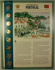 First Euro Coins of Portugal 8 Coin Set 2002