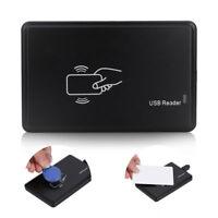 125Khz USB RFID Contactless Proximity Sensor Smart ID Card Reader EM4100 Black