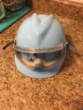Msa V Gard Full Brim Hard Hat With Austin Light Blue With Sperian Goggles