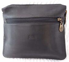 Levenger Black Leather Clutch Handbag