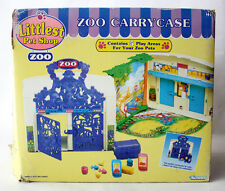 RARE VINTAGE 1993 LITTLEST PETSHOP ZOO CARRY CASE PLAYSET KENNER NEW MIB !