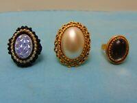 Vintage Costume Jewelry Rings Multi Size *LOT SALE*