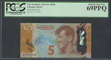 New Zealand 5 Dollars (2015) P191 Uncirculated Graded 69