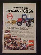 OLD ~LEGO TOYS BUILDING SET #8859 TOY TRACTOR CHASSIS ART PRINT AD~ ORIG VINTAGE