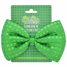 St. Patrick's Sequined Bow Ties, 6.25 in.