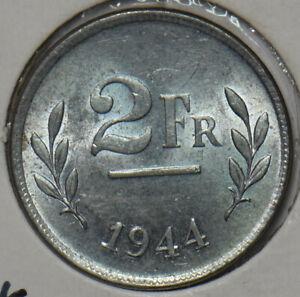 Belgium 1944 2 Francs BU 297366 combine shipping