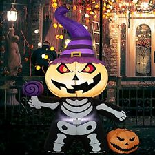 New listing 6FT Halloween Inflatables Outdoor Decorations Ghost with Pumpkin Ghost Style
