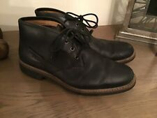 Mens Boots Clarks Size 9.5 Black Leather Chelsea Desert Boots Fab Cond