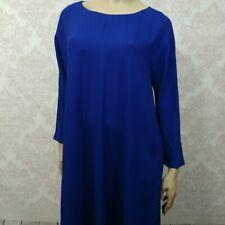 Max Mara Weekend Blue Swing Dress With Pockets Womens Size L XL