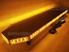 "43"" 88 LED WARNING FLASHING LIGHTNING LAW ENFORCEMENT TOP STROBE LIGHT BAR AMBER"