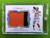 BAKER MAYFIELD FLAWLESS ROOKIE JERSEY CARD #/20 SSP  PRIZM 2018 Panini BROWNS RC
