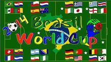 2014 Brasil World Cup 3x5 Feet Flag / World Cup Flag / World Cup Soccer / Soccer