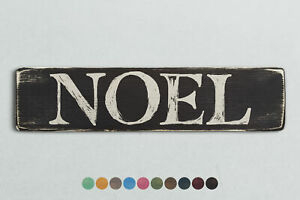 NOEL Vintage Style Wooden Sign. Shabby Chic Retro Home Gift