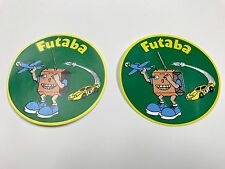 BRAND NEW SET OF TWO VINTAGE COLLECTIBLE FUTABA RC AIRPLANE ORIGINAL DECALS !!