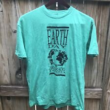 Vintage Earth Day Colorado 1990 green single stitch crew t-shirt size XL