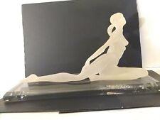 Vintage Art Deco Revival Lucite Acrylic Nude Figure Female Dancer Leaning Back