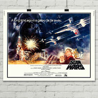"Star wars A New Hope British Quad Movie Poster 31"" x 24"" Giclee Art Print Canvas"