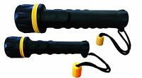 1 x Small  & 1 x Large heavy Duty Rubber Torch Shock Proof ULTRA Bright LED Lamp