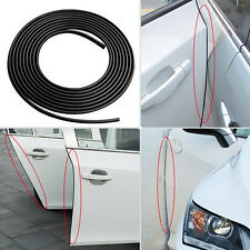 Moulding Trim Rubber Strip Car Door Scratch Protector Edge Guard 16FT/5M Black