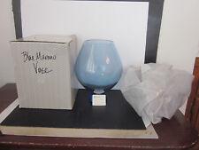 Murano Italian Art Glass La Murrina Signed BLUE & GOLD Flake Vase Unused In Box