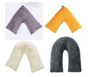 V Shape Teddy Fleece Pillow Cover OR with V Pillow Orthopaedic Support Cushion