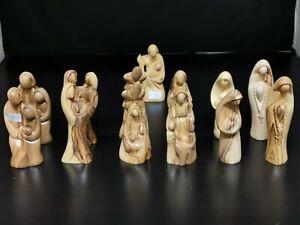 SALE!!!  Ca.9_11 cm hoch Figuren  Heilige Familie  olivenholz deko bethlehem