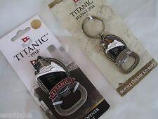 Rare Titanic 3D Model Brass Bottle Can Opener Keychain & Magnet Belfast Ireland