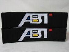 Embroidery Cool Black Seat Belt Cover Shoulder Pads Pair Abt Sportsline Logo