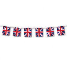 Plástico Gran Bretaña Banderín Interior o Gb Decoración 7 Metros de Largo