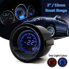 2020 2'' 52mm Digital EVO Gauge BOOST Vacuum TURBO Meter Blue/Red SMOKE LED PSI