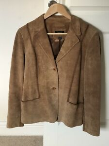 Sormet Brown Suede Cowgirl Jacket Lined Size 14