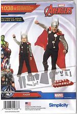 Thor Marvel Avengers Simplicity 1038 Costume Sewing Pattern Boys 3-8 Mens S-XL