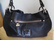 Tignanello Black Soft Pebbled Leather Shoulder Bag, Excellent Condition