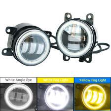 Angel Eye White/Yellow Dual Color LED Fog Light Kit For Nissan Subaru Ford Honda
