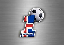 Sticker auto moto aufkleber island iceland foot soccer football viking ref2