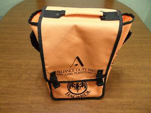 Bacardi Insulated Bottle Cooler Bag Portable Orange Shoulder Strap