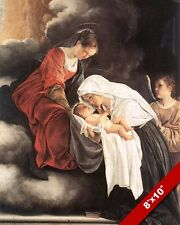 VISION OF SAINT FRANCESCA ROMANA PAINTING FRANCES OBLATE ART REAL CANVAS PRINT