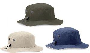 Cargo Army Bucket Hat UPF50+ Sun Protection BEIGE BLUE GREY BLACK or GREEN