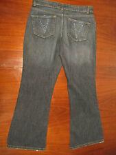 Steve & Barrys 8 Capri Stretch Cropped Denim Blue Jeans