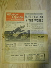 Motor Cycle Newspaper, Aug 23, 1967, Alf's Fastest in the World.    MCNP 67