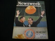 1968 AUG 19 NEWSWEEK MAGAZINE - NIXON & THE GOP TICKET - FRONT COVER - A626