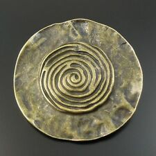 8pcs Antiqued Bronze vintage Alloy Round Pattern Pendant Charms 32614