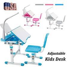 Height Adjustable Children Desk and Chair Set Student Study Table School Desk.